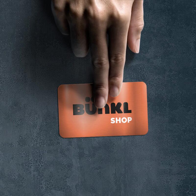 Carte de membre Bünkl Shop